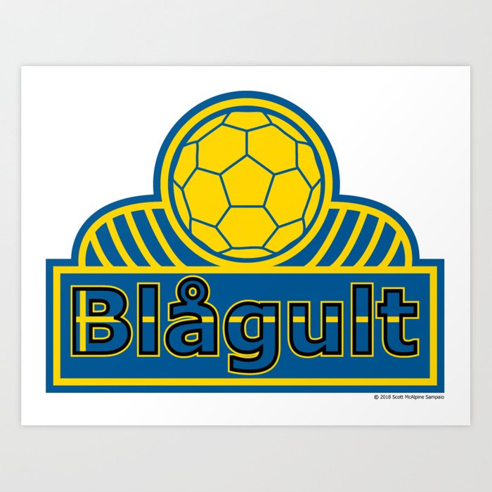 Sweden Blågult (The Blue-Yellow) ~Group F~ Art Print