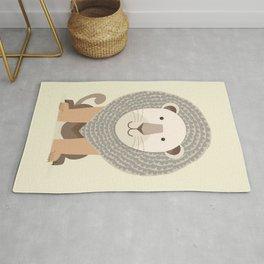 Whimsical Lion Rug