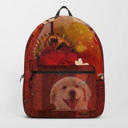 Sweet golden retriever Backpack