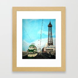 Blackpool Lancashire England Acrylic Fine Art Framed Art Print