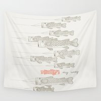 ilovedoodle Wall Tapestries featuring My Way by I Love Doodle