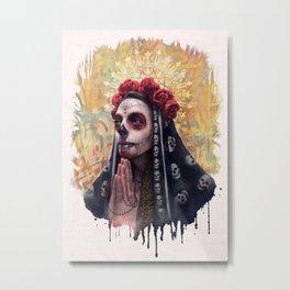 """""""Katrina"""" - Skull girl Metal Print"""