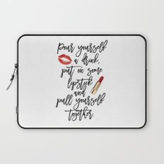 marilyn monroe,marilyn monroe quote,Gift Women,Fashion quote,Red lips,Lipstick Print,Celebration Laptop Sleeve