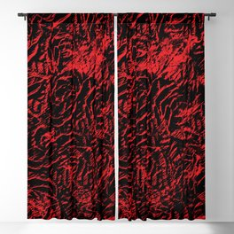 distressed roses Blackout Curtain
