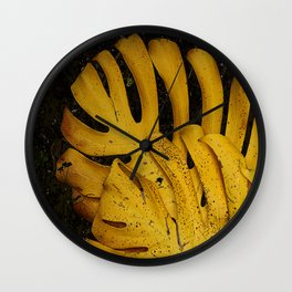 Not The Usual Fallen Leaves Wall Clock