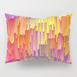 Vibrant Rainbow Cascade Design Pillow Sham