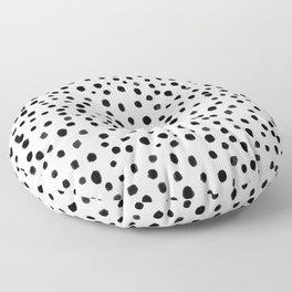 Modern Polka Dot Hand Painted Pattern Floor Pillow