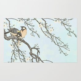Birds and blossoms Rug