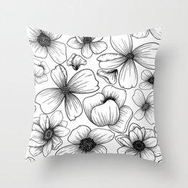 Floral Wallpaper: 1 Throw Pillow