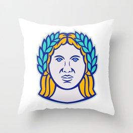 Ceres Roman Agricultural Deity Mascot Throw Pillow