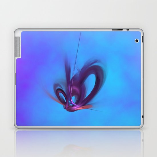 Purple Hearts Laptop & iPad Skin