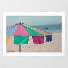 Pastel Umbrella Art Print