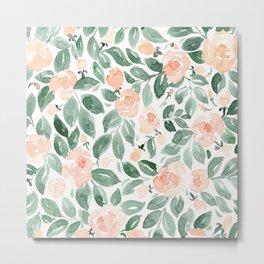 "Loose watercolor florals, ""Miriam"" Metal Print"
