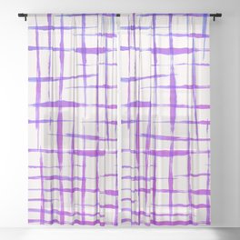 Acrylic colorful lines Sheer Curtain