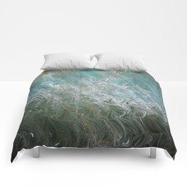 Wavy Mirage Water Marbling Comforters