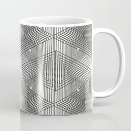 Optical Vibrations in Black and White Coffee Mug