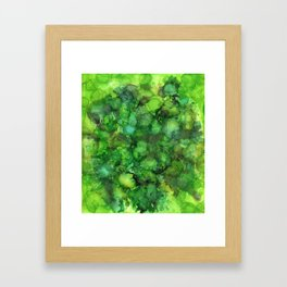 Through the Emerald Canopy Framed Art Print