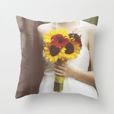 Man & Wife Throw Pillow
