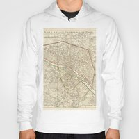 paris map Hoodies featuring PARIS by Le petit Archiviste