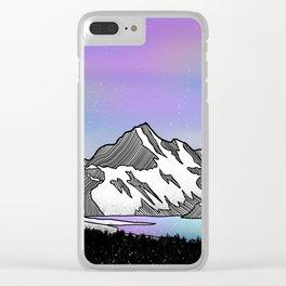 Aoraki Mount Cook Clear iPhone Case