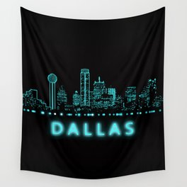 Digital Cityscape: Dallas, Texas Wall Tapestry