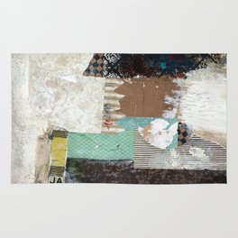 Another Vice Mixed Media Abstract Collage Art Rug