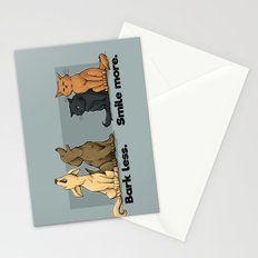 Bark Less. Smile More. Stationery Cards
