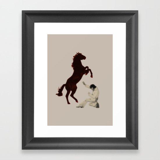 Checkmate_alt Framed Art Print