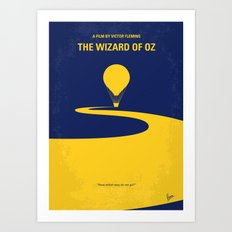 No177 My Wizard minimal movie poster OZ Art Print