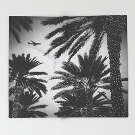 PLANE PALMS Throw Blanket