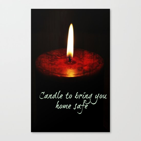 A candle to bring you home Canvas Print