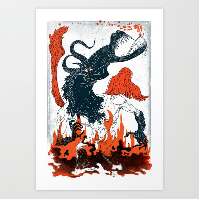 A Jersey Devil Haunting Art Print