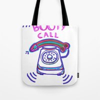 booty Tote Bags featuring ((( BOOTY CALL ))) by FABIO MIGGIANO_H13