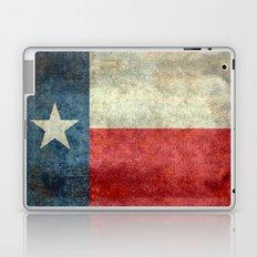 Texas flag, Retro distressed tex Laptop & iPad Skin