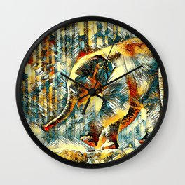 AnimalArt_Elephant_20170601_by_JAMColorsSpecial Wall Clock