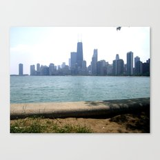 Chicago Across From Lake Michigan Shores Canvas Print