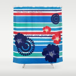 Never ever grow up Shower Curtain