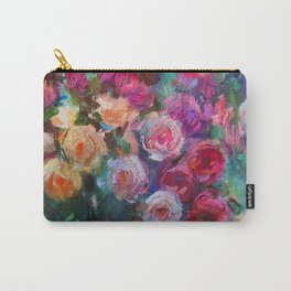 Tea Roses Carry-All Pouch