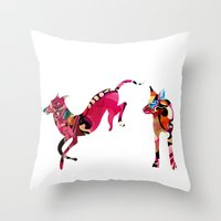 dogs Throw Pillows featuring dogs by Alvaro Tapia Hidalgo