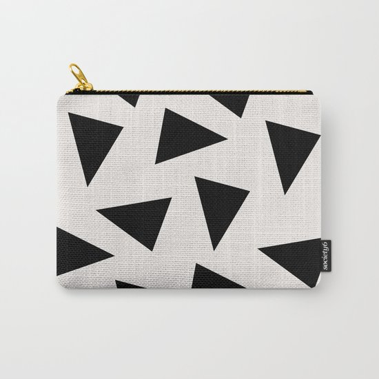 black triangle pattern II Carry-All Pouch