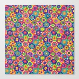 Millefiori-Crayon Colors Canvas Print