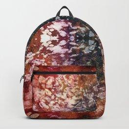 Boho Red Burnout Kaleidoscope Lace Backpack