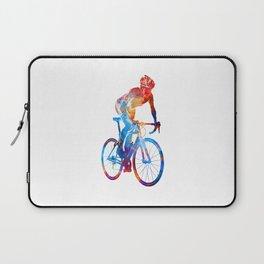 Woman triathlon cycling 06 Laptop Sleeve