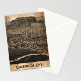 Aerial View of Oneonta, New York (1884) Stationery Cards