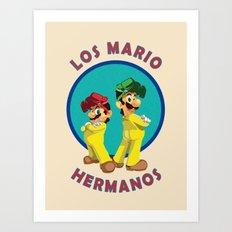 Los Mario Hermanos Art Print