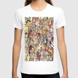 Cartoon Collage T-shirt
