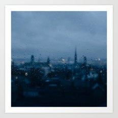 Rainy Rouen Art Print