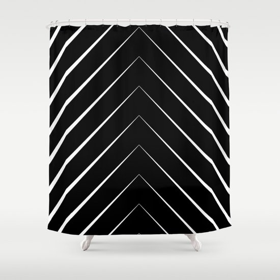 Black And White Shower Curtain By Georgiana Paraschiv