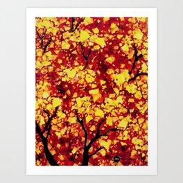 Fall 1 of 2 Art Print