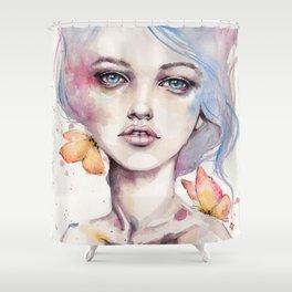 With Elegance (female Portrait) Shower Curtain